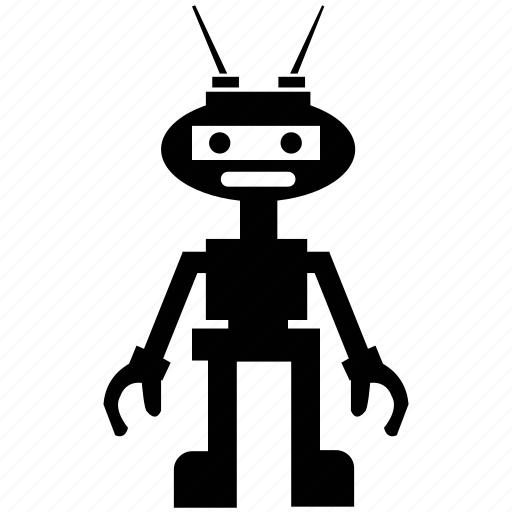 bender robot, human robot, person shape robot, technological robot icon