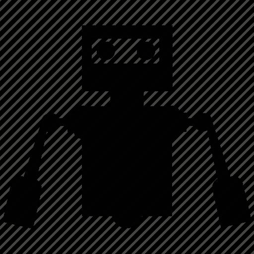 Human robot, technological robot, person shape robot, bender robot icon