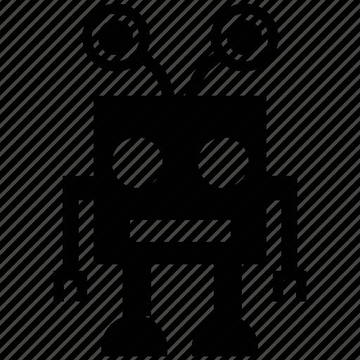 dizzy robot, machine, mini robot, robot monster, robot wheels, technological icon