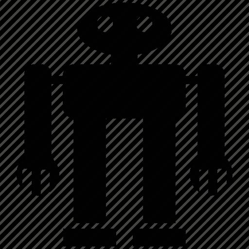 electronic, metallic robot, monitoring robot, robot face, robotics icon