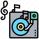 dj, record, play, disc, songs icon