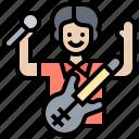artist, musician, performer, singer, vocalist icon