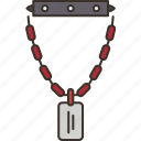 necklace, jewelry, rocker, fashion, accessory