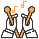 drum, drumsticks, music, music and multimedia, musical instrument, orchestra, percussion instrument icon