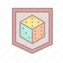 dice, protected, roleplay, tabletop game icon