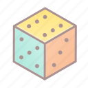 d6, dice, roleplay, tabletop game icon