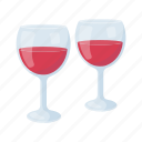 alcohol, glass, red, wine icon
