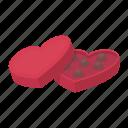 candy, dessert, heart, love, romance, sweet icon