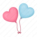 balloon, heart, love, romance
