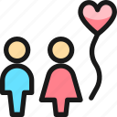dating, couple, balloon