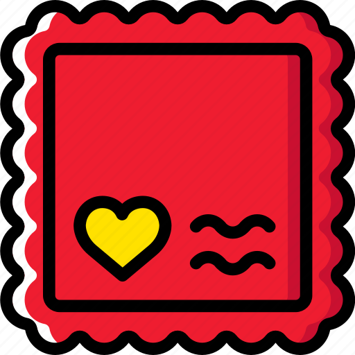 lifestyle, love, romance, stamp icon