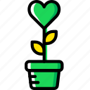 lifestyle, love, plant, romance icon