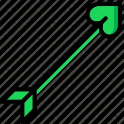 arrow, lifestyle, love, romance icon