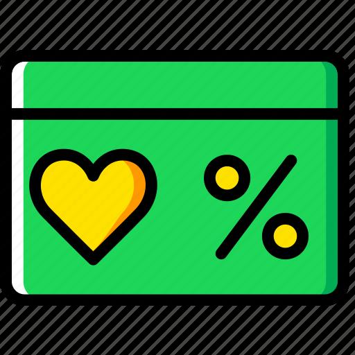 coupon, lifestyle, love, romance icon
