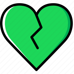 broken, heart, lifestyle, love, romance icon