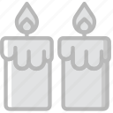 candles, lifestyle, love, romance icon