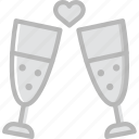 champagne, glasses, lifestyle, love, romance icon
