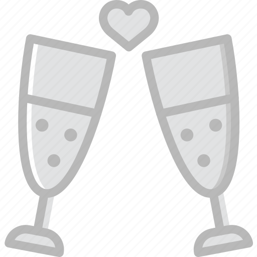 champagne, glasses, lifestyle, love, romance icon