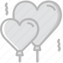 balloons, lifestyle, love, romance icon