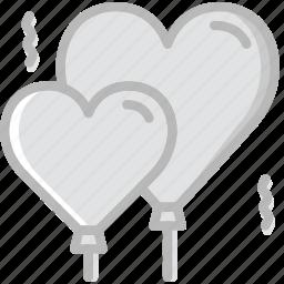 balloons, lifestyle, love, romance icon