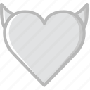 evil, heart, lifestyle, love, romance icon