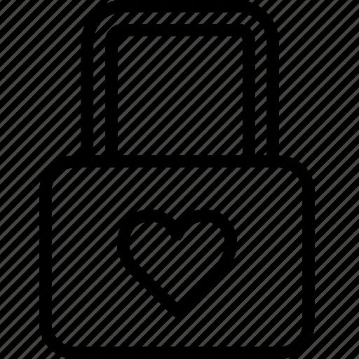 heart, lifestyle, locked, love, romance icon