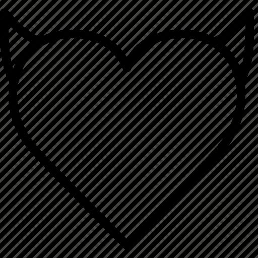 evil, heart, lifestyle, love, romance icon