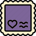 lifestyle, love, romance, stamp icon