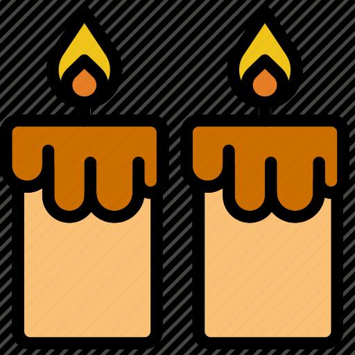 candles, lifestyle, love, romance icon