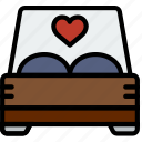 bed, lifestyle, love, romance icon