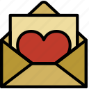 letter, lifestyle, love, romance icon