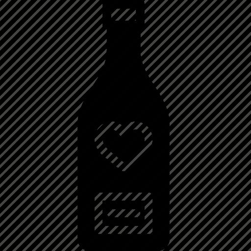 bottle, lifestyle, love, romance, wine icon