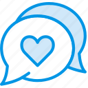 lifestyle, love, message, romance icon