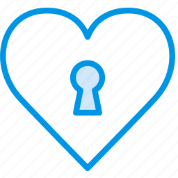 heart, lifestyle, locked, love, romance icon