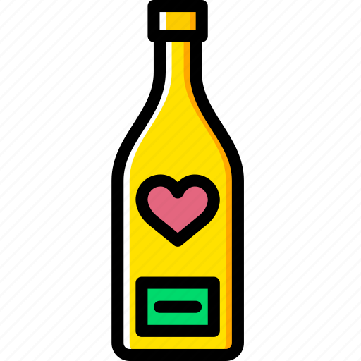 bottle, lifestyle, love, romance, wine icon