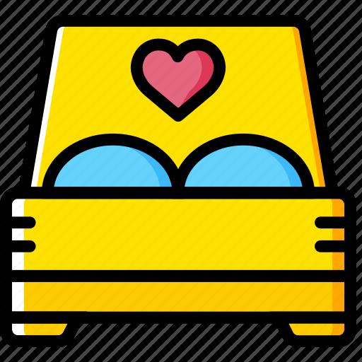 bed, lifestyle, love, romance icon