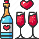 alcohol, beverage, champagne, drink, glass, restaurant, wine icon
