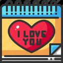 calendar, date, heart, love, romance, valentine, wedding icon