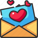card, communication, heart, letter, love, message, romance icon