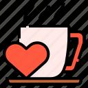 beverage, coffee, drink, hot, love, mug icon