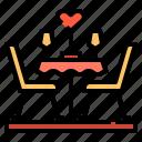 dinner, love, romance, table, valentines