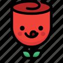 emoji, emotion, expression, face, feeling, naughty, rose