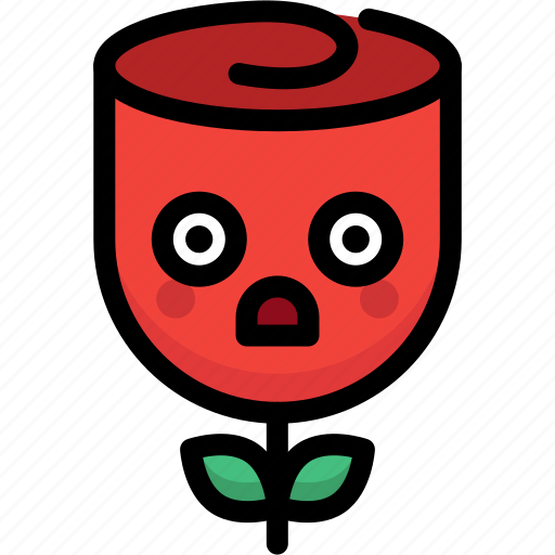 emoji, emotion, expression, face, feeling, rose, stunning icon