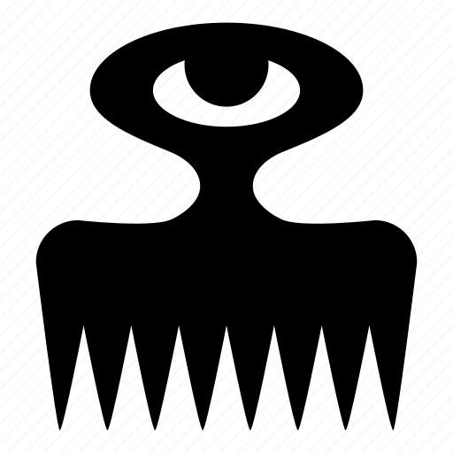 adinkra, duafe, femininity, roselution, wooden comb icon