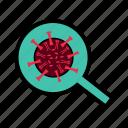 bacteria, corona, coronavirus, protection, security, virus icon