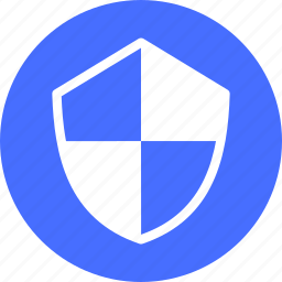 blue, firewall, hack proof, protection, safe, secure icon