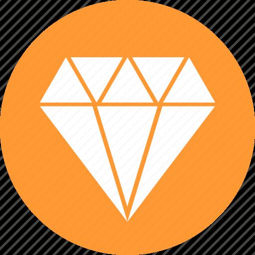 best, circle, diamond, gem, jewelry, premium, yellow icon