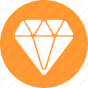 best, circle, diamond, gem, jewelry, premium, yellow icon