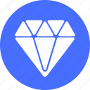 best, blue, circle, diamond, gem, jewelry, premium icon