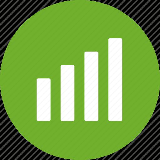 analytics, chart, finance, graph, green, growth, sales icon